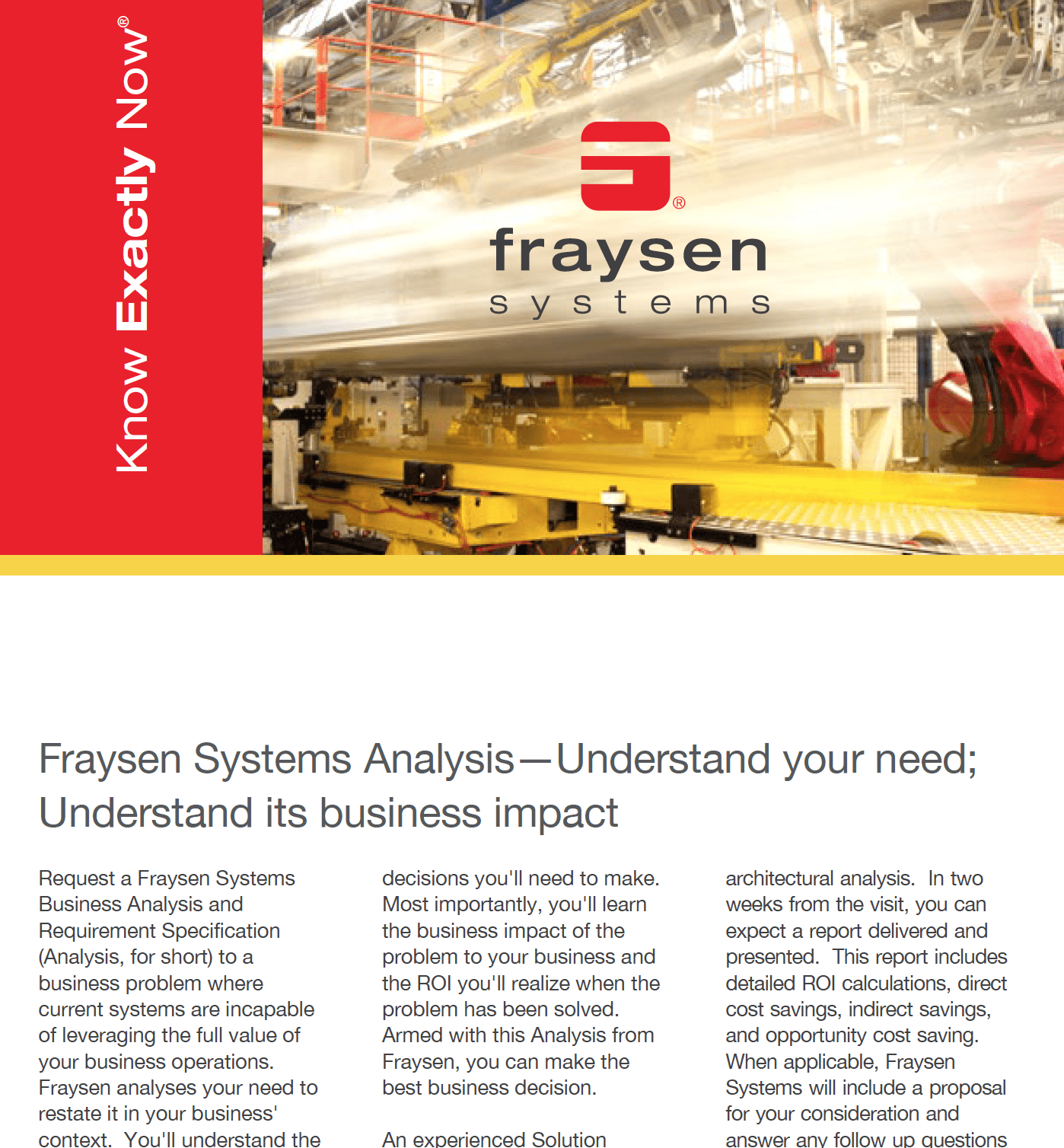 Fraysen Systems Analysis